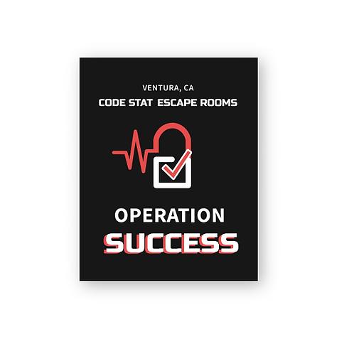 Operation Success (Vertical) Sticker