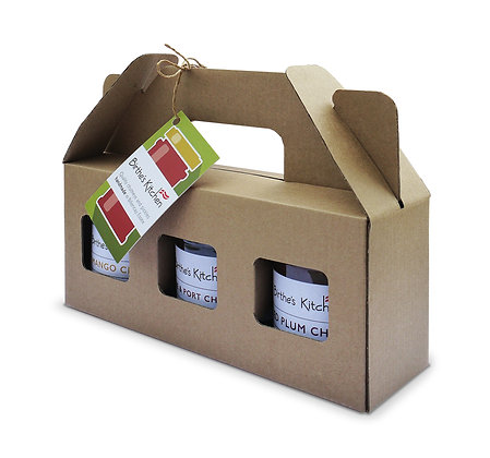 THREE CHUTNEYS IN A BOX