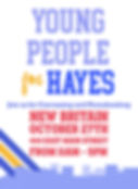 Young People For Hayes New Britain Graphic