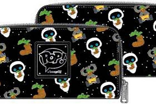 POP BY LOUNGEFLY PIXAR EARTH DAY WALL-E AOP ZIPAROUND WALLET   PRE ORDER