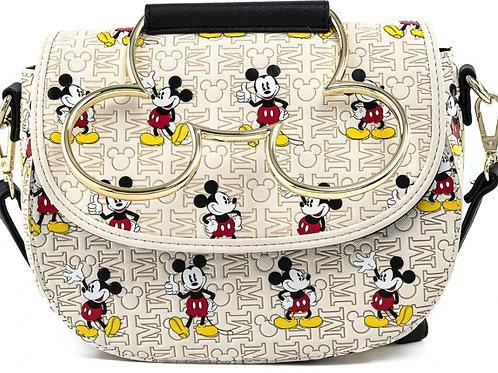 Loungefly Disney mickey mouse hardware aop crossbody