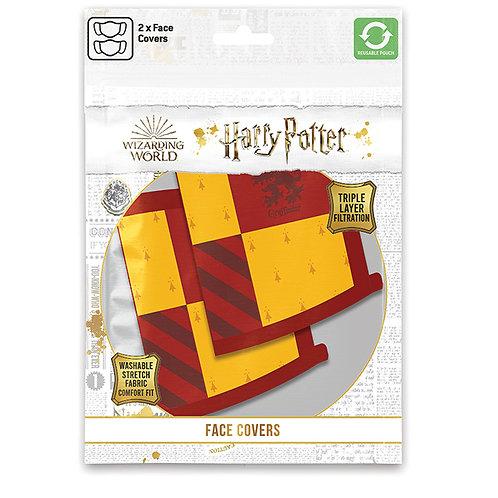Harry Potter Gryffindor Face Covering Set of 2