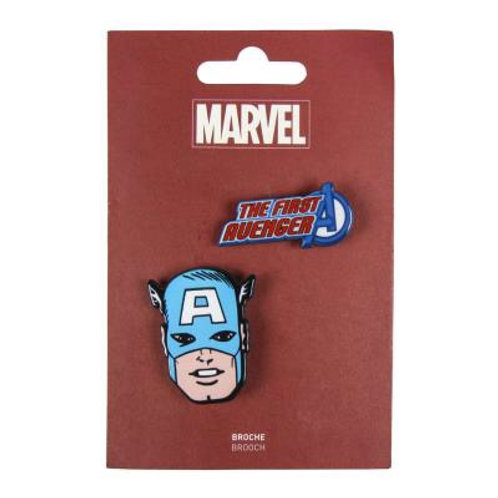 Marvel Captain America Set Of Two Brooches