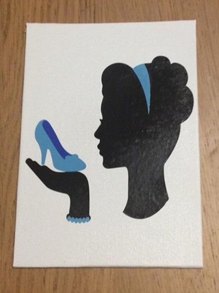 Cinderella Inspired Vinyl on Canvas
