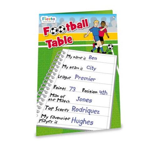 Magnetic Football Chart