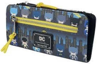 LOUNGEFLY X DC COMICS BATMAN 80TH ANNIVERSARY CHIBI AOP WALLET
