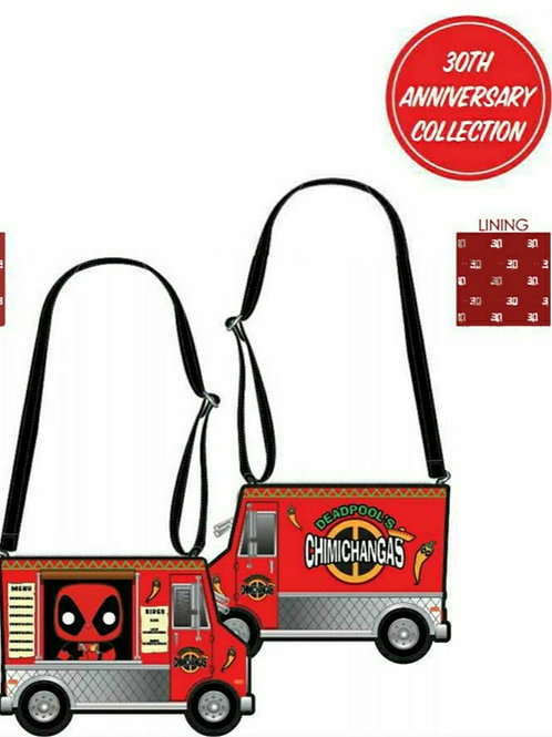 POP BY LOUNGEFLY MARVEL DEADPOOL 30TH ANNIVERSARY CHIMICHANGAS FOOD TRUCK CROSS