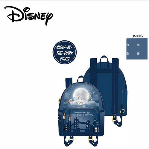 Loungefly disney Peter pan second star glow mini back pack pre-order