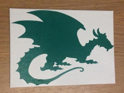 Dragon Vinyl on Canvas