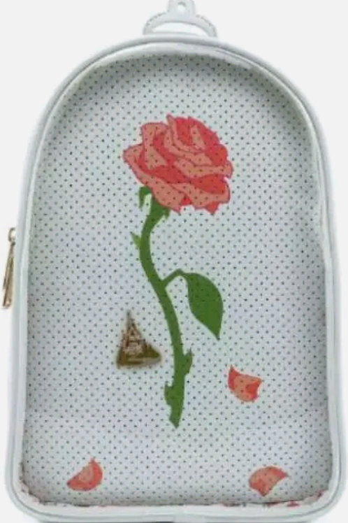LF BEAUTY AND THE BEAST FAUX LEATHER PIN  TRADER COLLECTOR BACK PACK