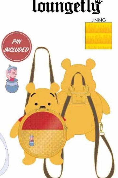 LF WINNIE THE POOH FAUX LEATHER PIN COLLECTOR BACk