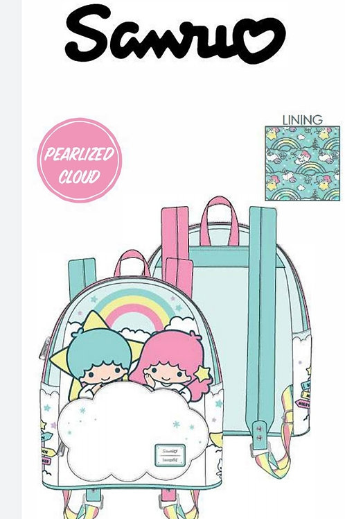 Loungefly little twins two stars on cloud mini backpack