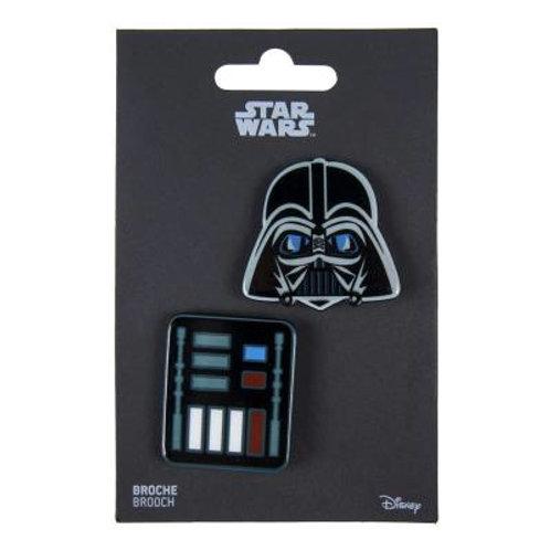 Set Of Two  Star Wars Darth Vader Brooches