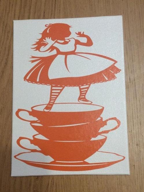 Alice In Wonderland Vinyl on Canvas