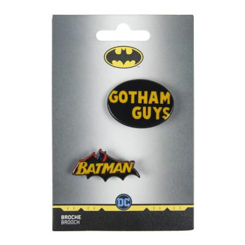 DC Comics Batman Set Of Two Brooches