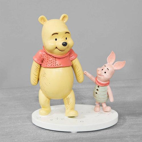 Disney Christopher Robin Pooh and Piglet Figurine