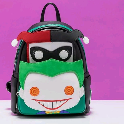 Loungefly dc comics joker/Harvey quinn backpack