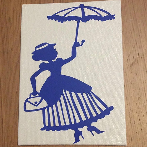 Mary Poppins Inspired Vinyl on Canvas