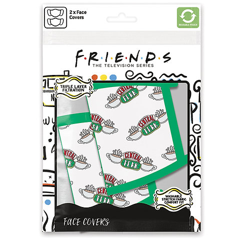 Friends Central Perk Face Covering Set of 2