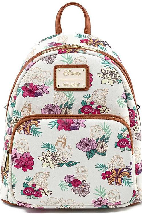 Loungefly disney princess floral aop mini backpack