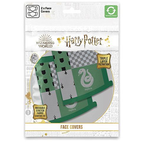 Harry Potter Slytherin Face Covering Set of 2