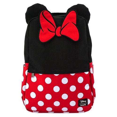 loungefly minnie mouse cosplay square nylon back pack