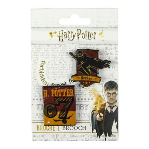 Harry Potter Set Of Two Brooches Gryffindor