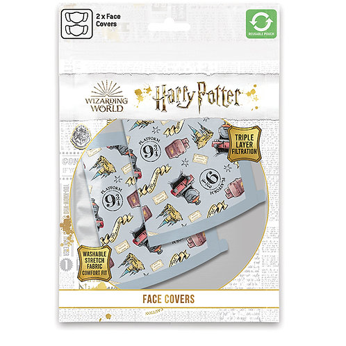Harry Potter Hogwarts Express Face Covering Set of 2