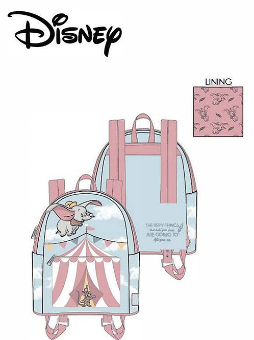 Loungefly disney dumbo flying circus tent mini back pack