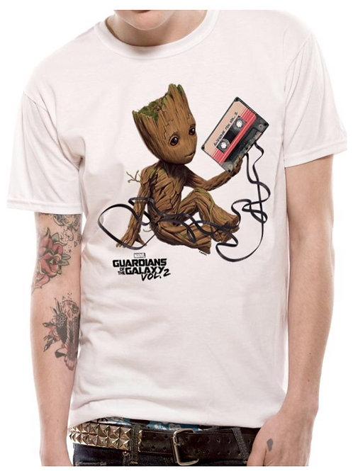 Men's/Unisex White Groot T-Shirt