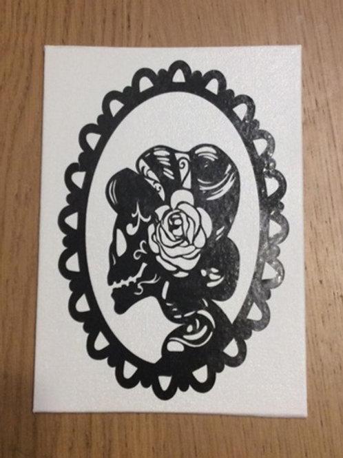 Bride Skeleton Vinyl on Canvas