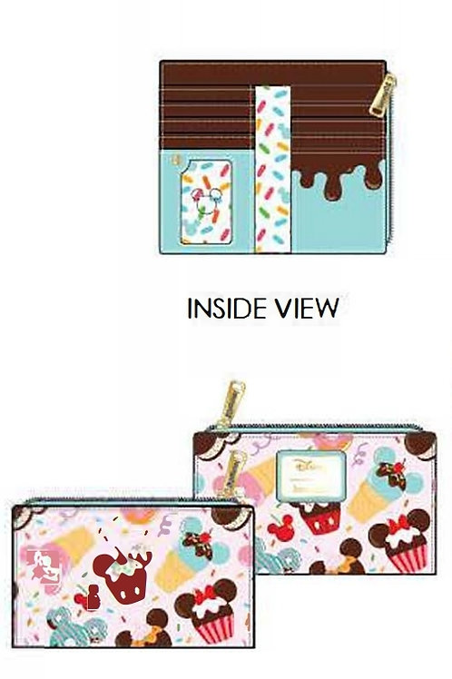 Loungefly disney mickey and minnie sweets flap wallet