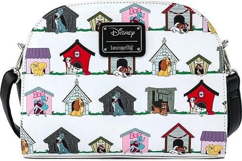 Loungefly disney dogs house crossbody