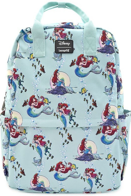 Loungefly the little mermaid ariel aop print back pack