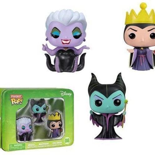 Funko Disney villains 3 pack pocket pops