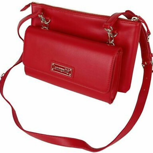 Loungefly Red Pin Trader Crossbody