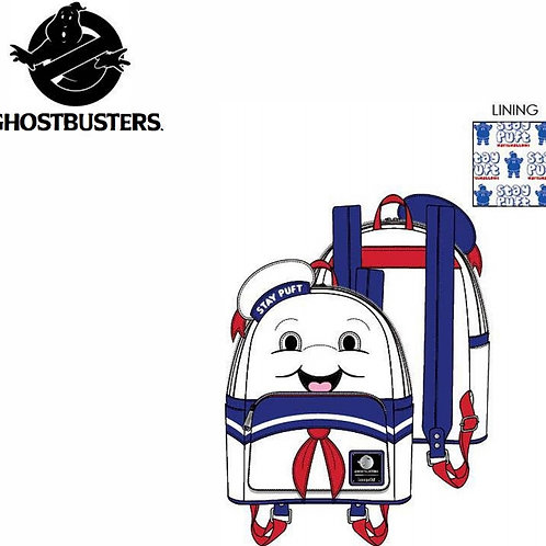 Loungefly ghostbusters stay put marshmallow man mini back pack