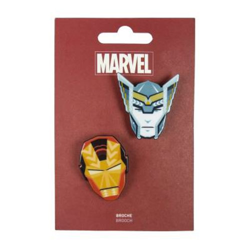 Marvel Iron Man and Thor Set Of Two Brooches