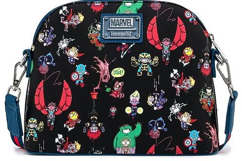 Loungefly marvel chibi avengers character handbag