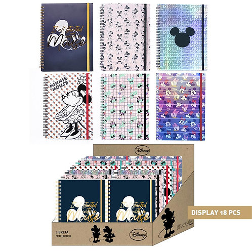 A5 Disney Notebooks Mickey Mouse, Minnie Mouse