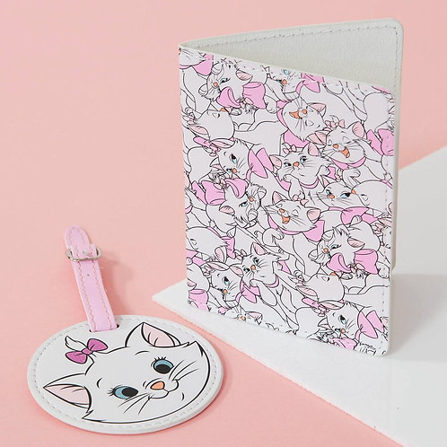 Disney Oui Marie Leatherette Luggage Tag and Passport Holder