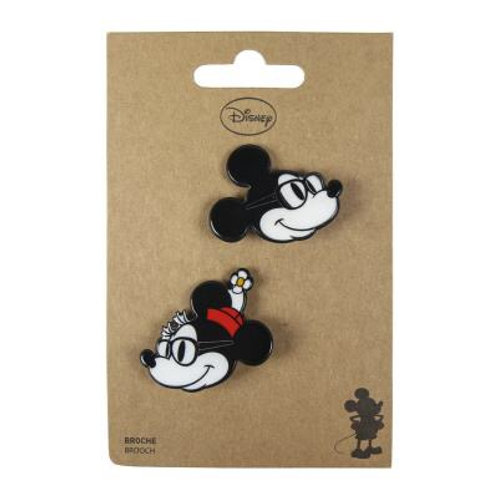Disney Mickey and Minnie Set Of Two Brooches