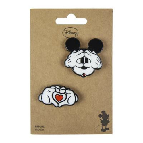 Disney Mickey Mouse Set Of Two Brooches