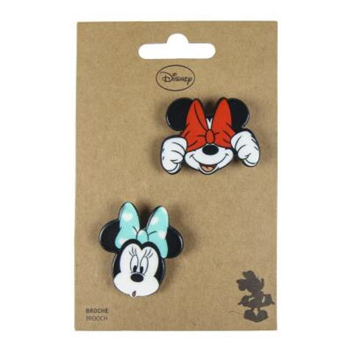Disney Minnie Mouse Set Of Two Brooches