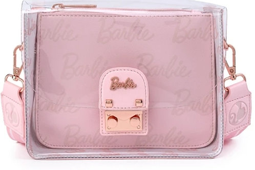 Loungefly x barbie Rose gold pouch and clear crossbody bag