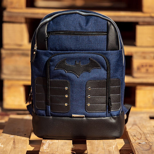 Blue and Black Batman Backpack