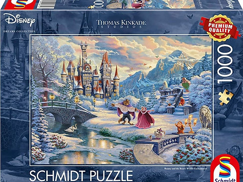 DISNEY BEAUTY AND THE BEAST WINTER ENCHANTMENT  1000pcs Puzzle
