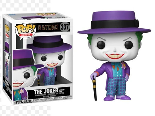 Batman movie joker with hat funko pop