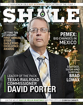Shale Oil & Gas Magazine Cover with Texas Rail Road Commision David Porter