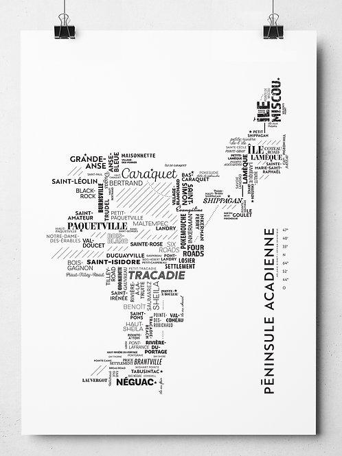Sérigraphie Péninsule acadienne (sans cadre)
